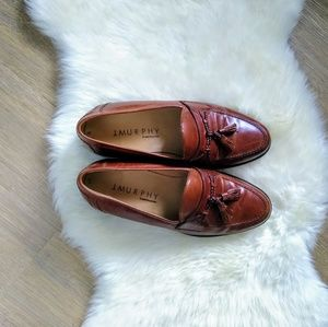 Johnson and Murphy  Brown Leather Loafers
